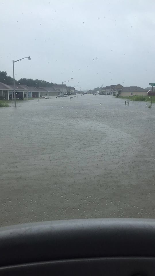 Flood in Carencro District